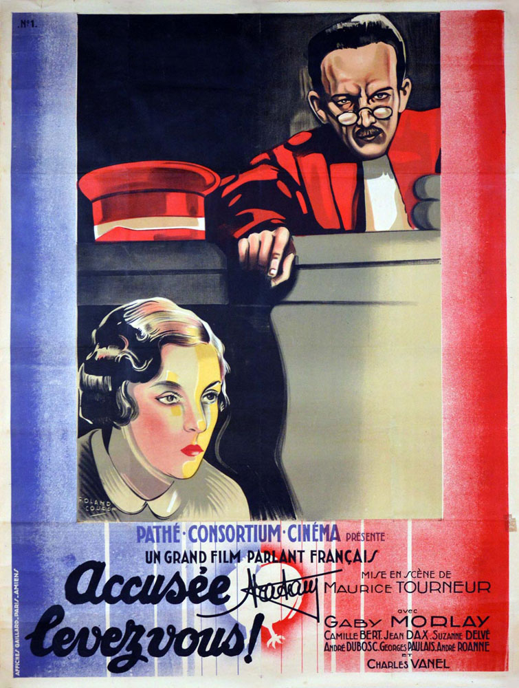Accusee Levez Vous by Maurice Tourneur (47 x 63 in)