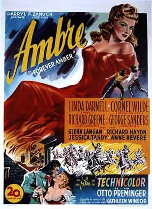 Forever Amber by Otto Preminger (14 x 22 in)