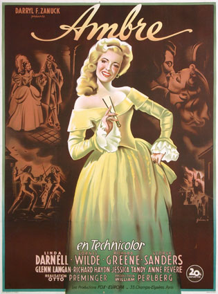 Forever Amber by Otto Preminger (47 x 63 in)