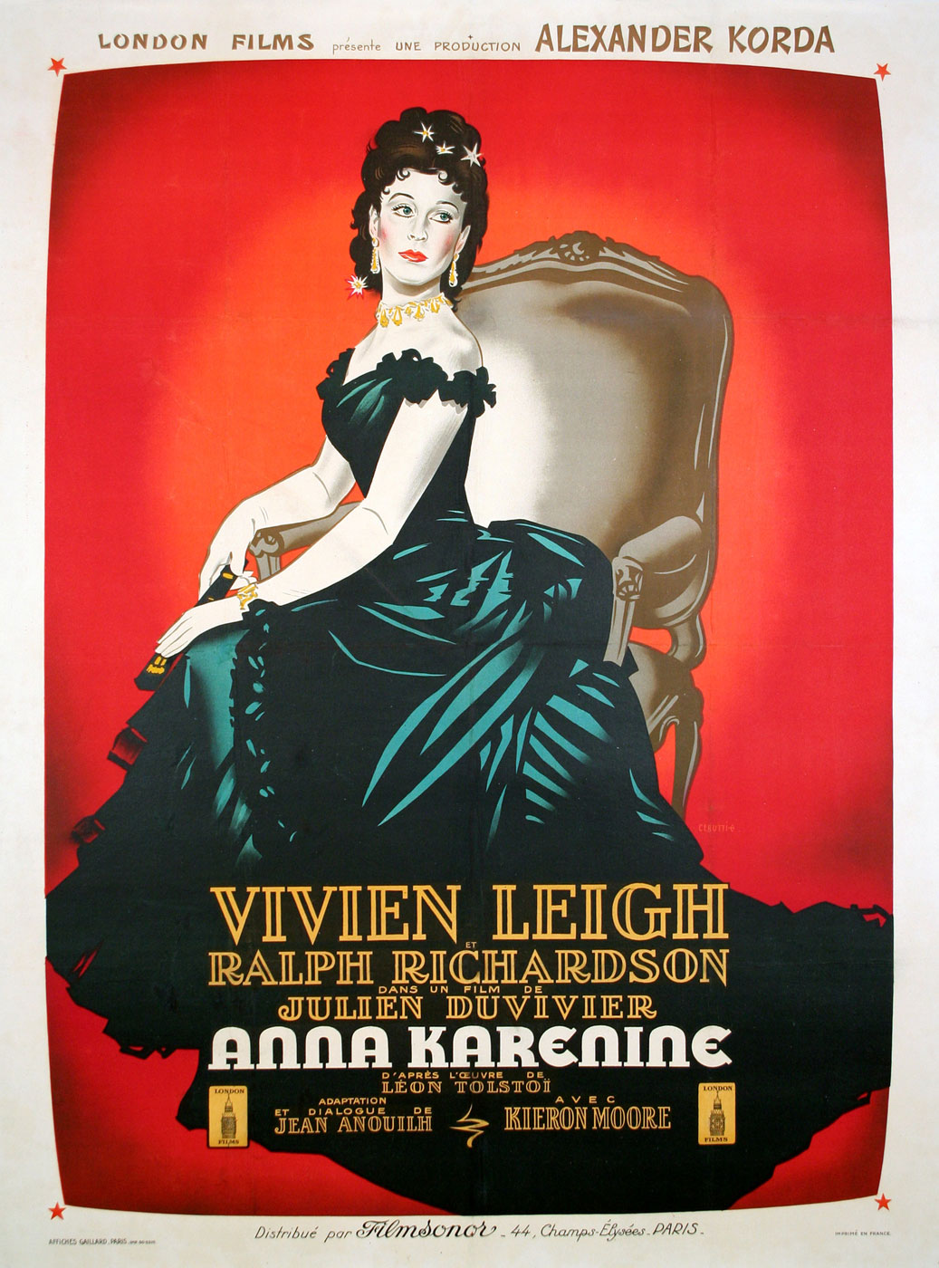 Anna Karenine by Julien Duvivier (47 x 63 in)