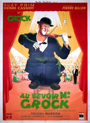 Au Revoir Monsieur Grock by Pierre Billon (47 x 63 in)