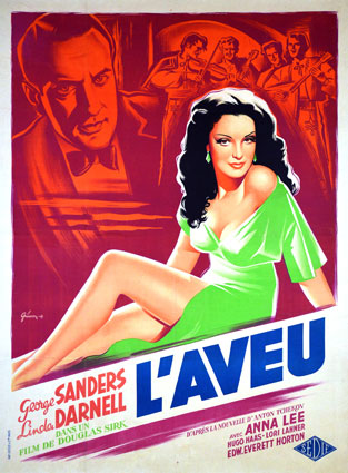 Aveu (l') by Douglas Sirk (47 x 63 in)