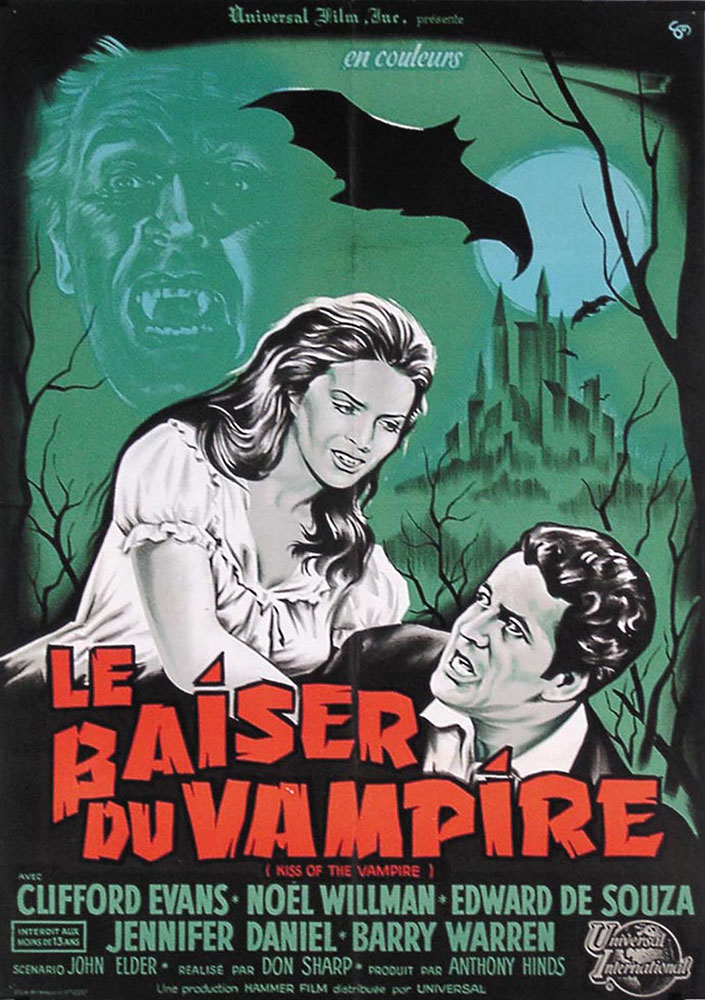 Kiss Of The Vampire (the) by Don Sharp (23 x 33 in)