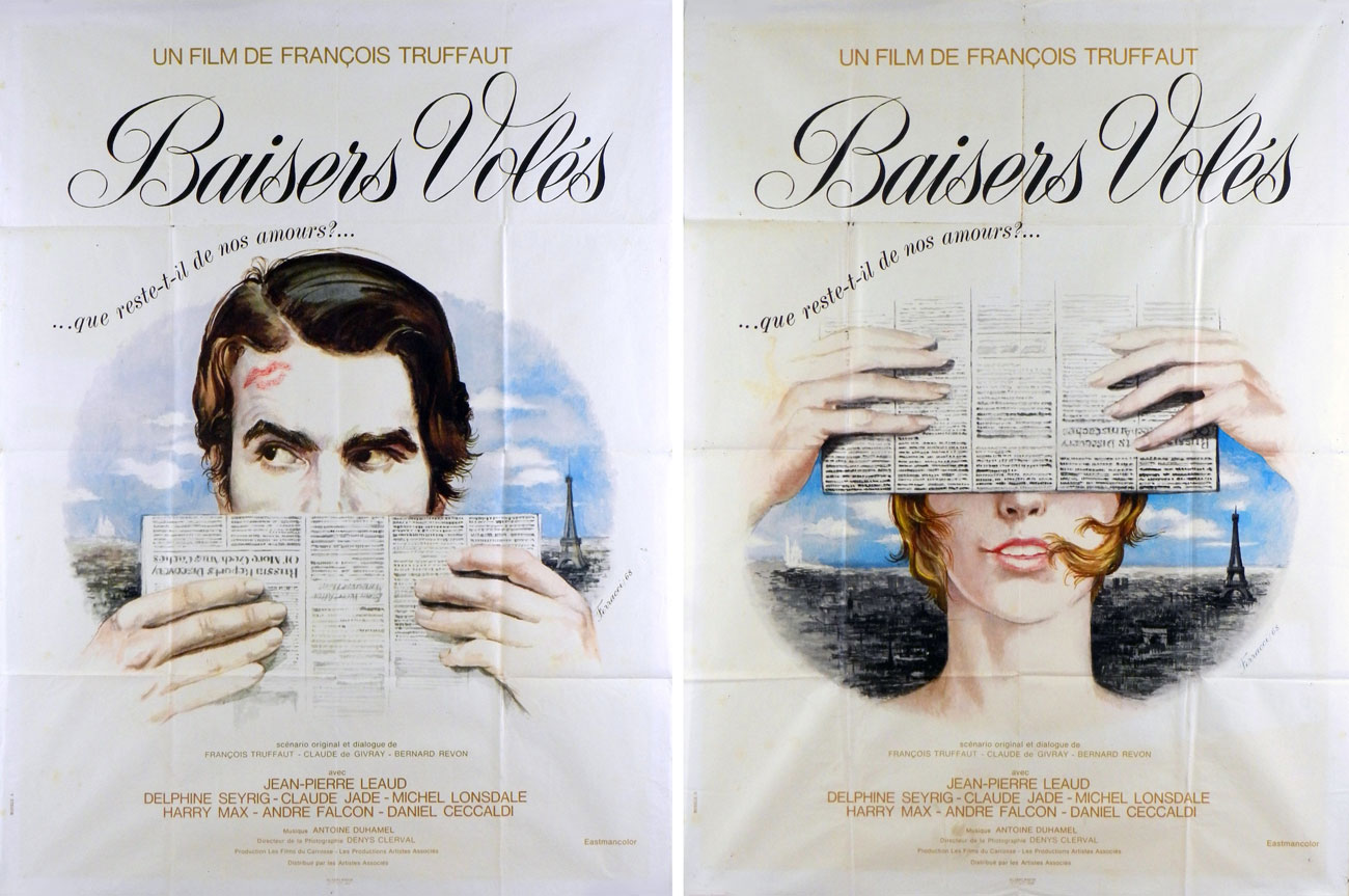 Baisers Voles (2 Posters) by Francois Truffaut