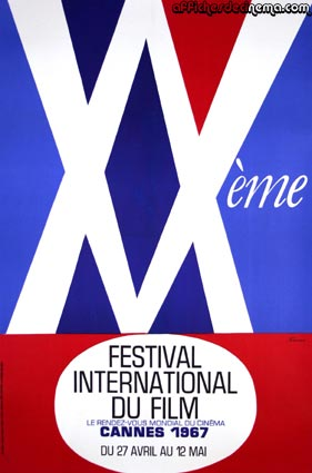 Festival De Cannes 1967 by - (33 x 47 in)