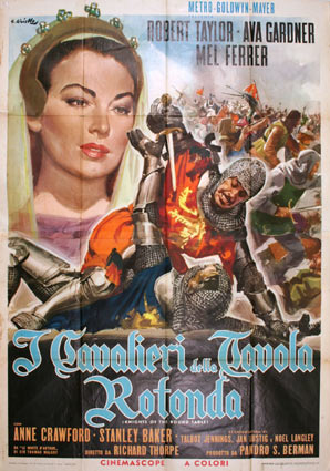 12 affiches de cin ma de affichiste averardo ciriello - Les chevaliers de la table ronde film 1953 ...