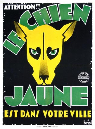 Chien Jaune (le) by Jean Tarride (23 x 33 in)