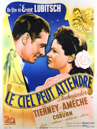 Heaven Can Wait by Ernst Lubitsch (47 x 63 in)