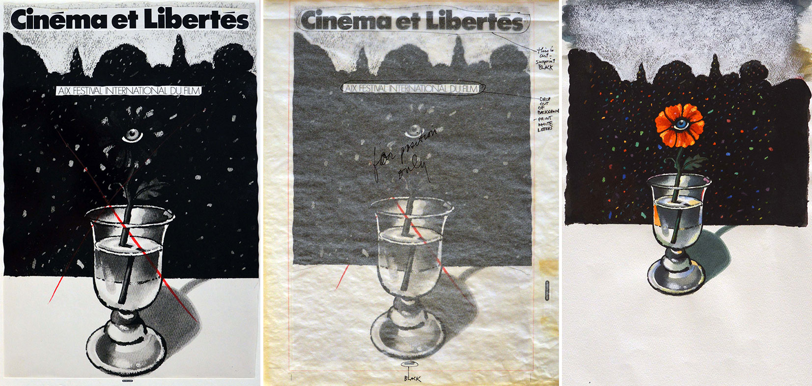 Cinema Et Libertes (original Artwork) - Set Of 3 by -