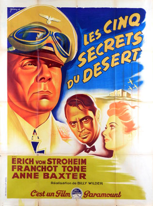 Five Graves To Cairo by Billy Wilder (47 x 63 in)