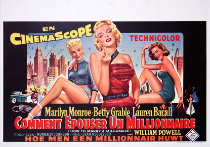 How To Marry A Millionaire by Jean Negulesco (14 x 22 in)