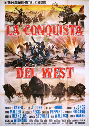 How The West Was Won by John Ford (55 x 78 in)