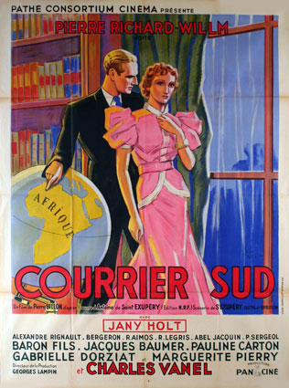 Courrier Sud by Pierre Billon (47 x 63 in)
