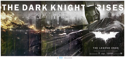 Dark Knight Rises (the) par Christopher Nolan (135 x 270 cm)