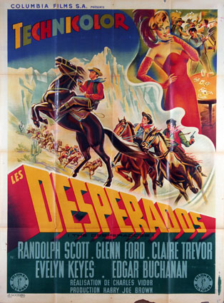Desperadoes (the) by Charles Vidor (47 x 63 in)