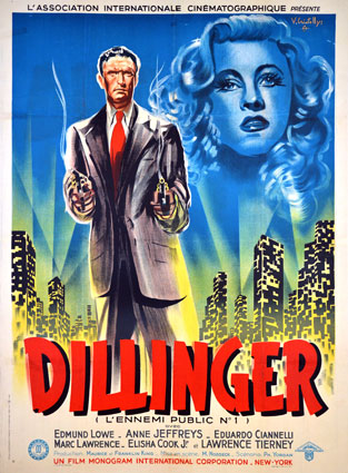 Dillinger by Max Nosseck (47 x 63 in)