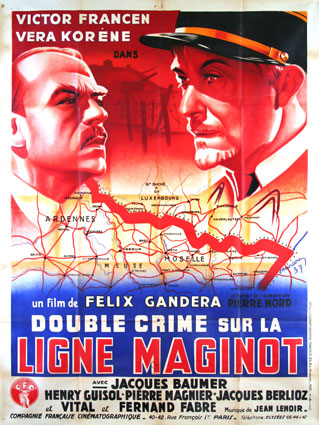 Double Crime Sur La Ligne Maginot by Felix Gandera (47 x 63 in)