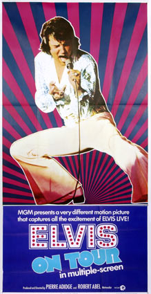 Elvis On Tour by Pierre Adidge (41 x 81 in)