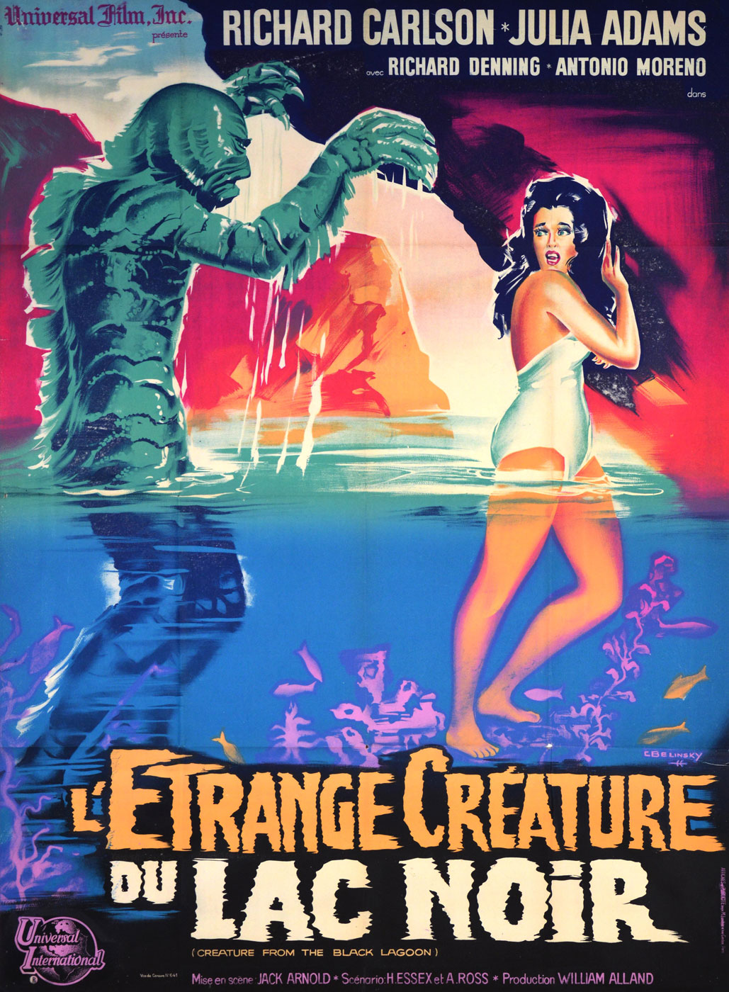 Creature From The Black Lagoon R-62 by Jack Arnold