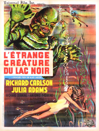 Creature From The Black Lagoon R-62 by Jack Arnold (23 x 33 in)
