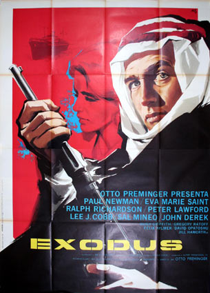 Exodus by Otto Preminger (55 x 78 in)
