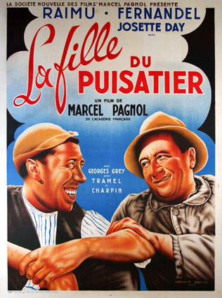 Fille Du Puisatier (la) by Marcel Pagnol (47 x 63 in)
