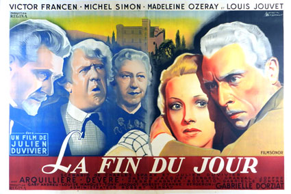 Fin Du Jour (la) by Julien Duvivier (63 x 94 in)