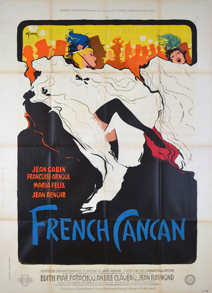 French Cancan by Jean Renoir (47 x 63 in)