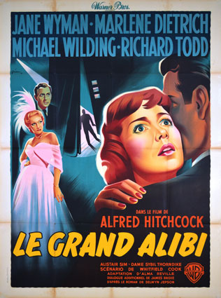 Stage Fright by Alfred Hitchcock (47 x 63 in)