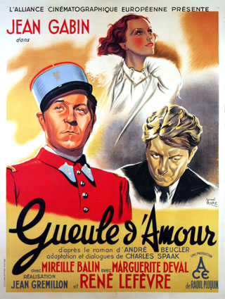Gueule D'amour by Jean Gremillon (47 x 63 in)