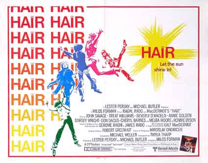 Hair by Milos Forman (22 x 28 in)