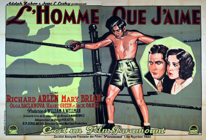 Homme Que J'aime (l') par William Wellman (160 x 240 cm)
