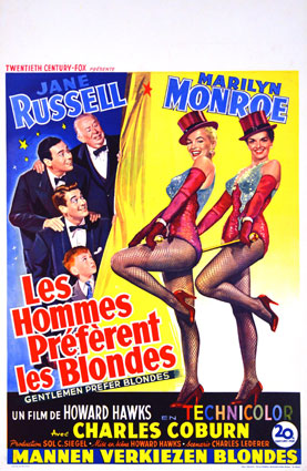 Hommes Preferent Les Blondes (les) par Howard Hawks (35 x 55 cm)