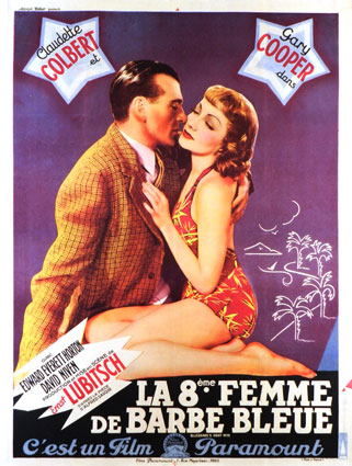 Bluebeard's Eighth Wife by Ernst Lubitsch (47 x 63 in)