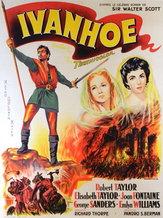 Ivanhoe par Richard Thorpe (120 x 160 cm)