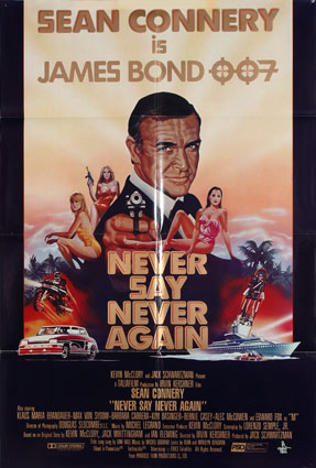 Never Say Never Again by Irvin Kershner (27 x 41 in)