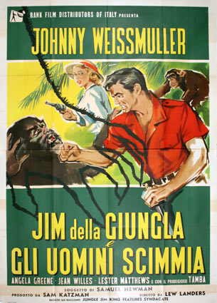 Jungle Jim by Lew Landers (55 x 78 in)