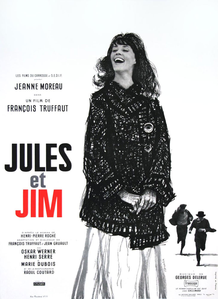 Jules Et Jim by Francois Truffaut (23 x 33 in)