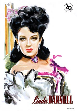 Linda Darnell by - (27 x 41 in)
