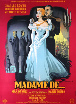 Madame De ,,, by Max Ophuls (47 x 63 in)