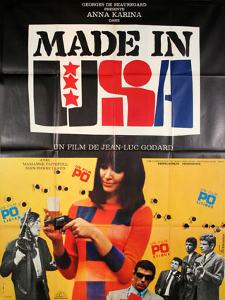 Made In Usa by Jean Luc Godard (47 x 63 in)