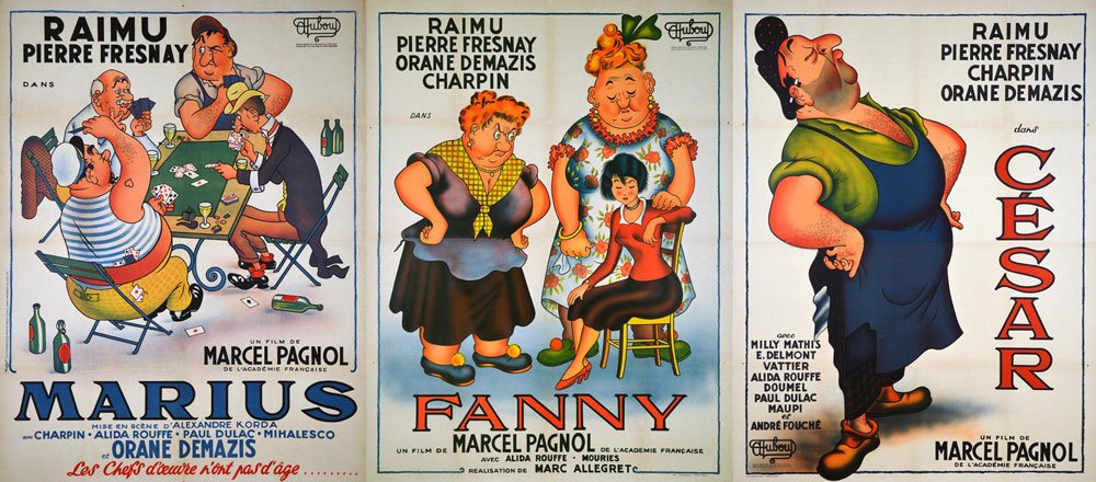 Marius Fanny Cesar (set Of 3 Posters) by Marcel Pagnol