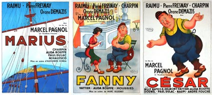 Marius Fanny Cesar  (set Of 3 Posters) by Marcel Pagnol (23 x 33 in)