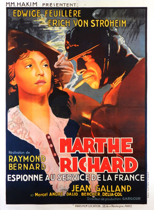 Marthe Richard by Raymond Bernard (47 x 63 in)