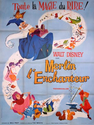 Merlin L'enchanteur par Walt Disney