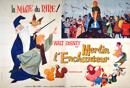 Merlin L'enchanteur par Walt Disney (160 x 240 cm)