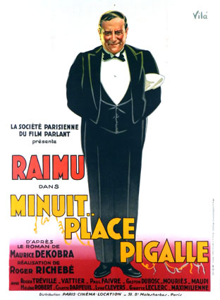 Minuit Place Pigalle by Roger Richebe (47 x 63 in)