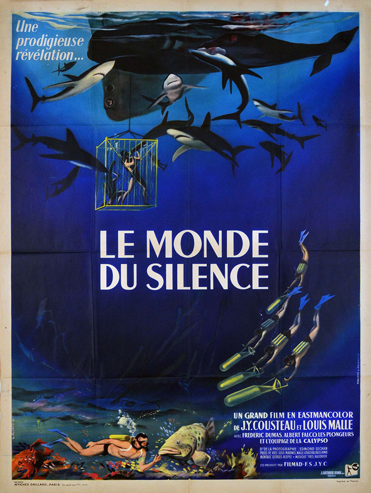 Monde Du Silence (le) by Jacques Yves Cousteau (47 x 63 in)