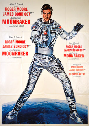 Moonraker by Lewis Gilbert (54 x 75 in)