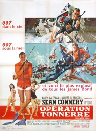 Thunderball by Terence Young (47 x 63 in)